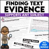 Text Evidence Proof Frames Combined Units