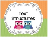 Text Structure OWL Posters, Main Idea, Sequence, Compare,