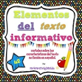 Text features in Spanish / Elementos del texto informativo