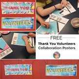 """""""Thank You"""" &  """"Volunteers"""" Poster {FREE}"""