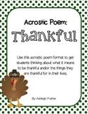 Thankful Acrostic Poem