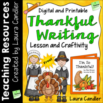 FREE Thankful Writing Craftivity