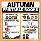 Thanksgiving Printable Readers