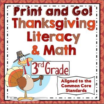 Thanksgiving Activities - 3rd Grade