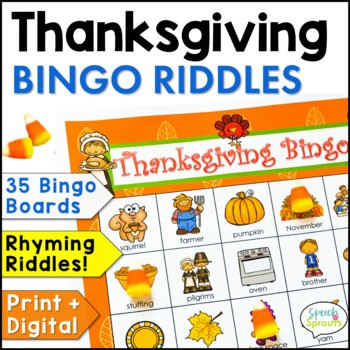 Thanksgiving Bingo Riddles