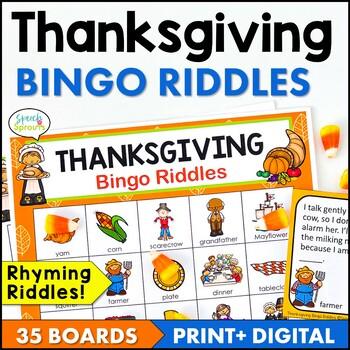 Thanksgiving Bingo Riddles