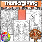 Thanksgiving Coloring Sheets - Just Print and GO!