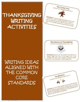 Thanksgiving Writing Activity Cards