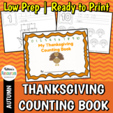 Thanksgiving Counting Activity Book, 0-10