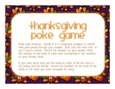 Thanksgiving Day Poke Game - sentence identification