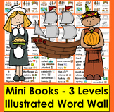 Thanksgiving Emergent Readers +Vocab.- 3 Reading Levels -