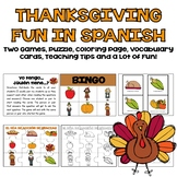 Thanksgiving Fun in Spanish