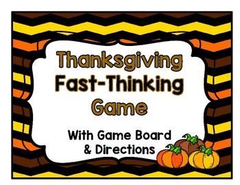 Thanksgiving Game: Scattergories  Grades 3-12