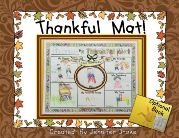 Thanksgiving Mat!  Thanksgiving Placemat Craftivity PLUS Handprint Poem
