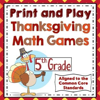 Thanksgiving Math Games: 5th Grade