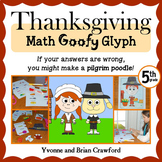 Thanksgiving Math Goofy Glyph (5th Grade Common Core)