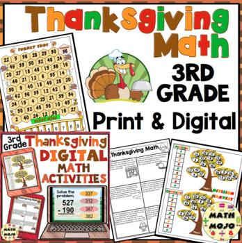Thanksgiving Math - 3rd Grade