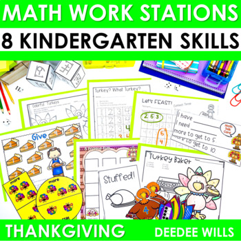 Math Stations ~ Thanksgiving CCSS
