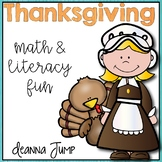 Thanksgiving Math and Literacy Activities