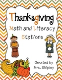 Thanksgiving Math and Literacy Station