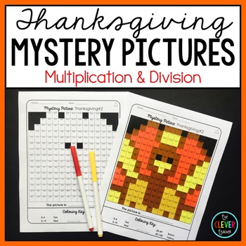 Thanksgiving Mystery Pictures--Multiplication and Division