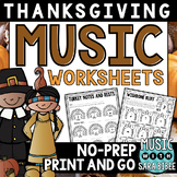 Thanksgiving Music Activities- Mega Pack- 49 Pages!