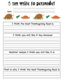 Thanksgiving Persuasive Writing