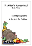 Thanksgiving Poems and Recitals for Children