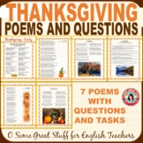 Thanksgiving Poetry and Activities