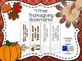 Thanksgiving Sample Bookmarks