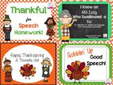 Thanksgiving Speech & Language Bundle!