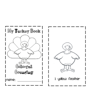 Thanksgiving Turkey Count and Color Book