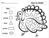 Thanksgiving Turkey Shape Activities Set
