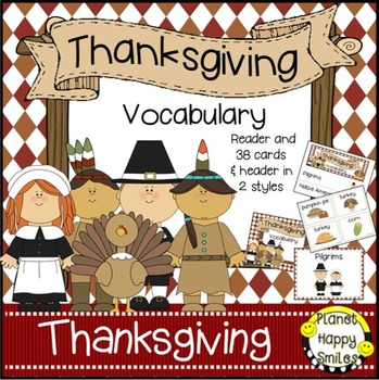 Thanksgiving Vocabulary Word Bank Cards