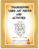 Thanksgiving Word Art Poster