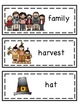Thanksgiving Word List and Word Wall Words