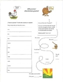 Thanksgiving wordsearch and worksheet (Spanish)