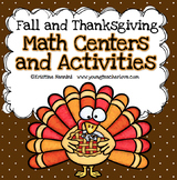 Thanksgiving and Fall Themed Math Centers and Activities {