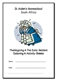 Thanksgiving and the Early Settlers Coloring Book