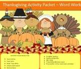 Thanksgiving spelling packet with 20 words...NO PREP!