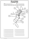13 (Thirteen) Colonies Map Activities and Answer Keys