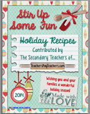 The 2014 Secondary Teachers' Holiday Recipe Book-FREE!!