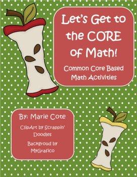 The Apple Core of Math! Kindergarten Math