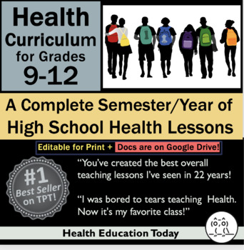 Health Curriculum for Grades 6-12: A Complete Semester of Health Lesson Plans
