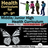 The Best Health Curriculum: Formatted for 3 Sequential Gra