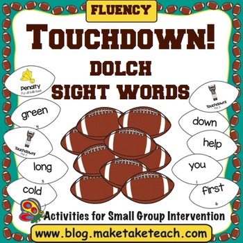 Dolch Sight Words - Touchdown!