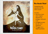 The Book Thief-Comprehension questions and answers for ent
