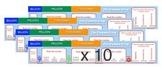 The Comma Crew Desktop Stickers SET OF TEN