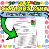 The Day the Crayons Quit Activity Linking Literary Terms a