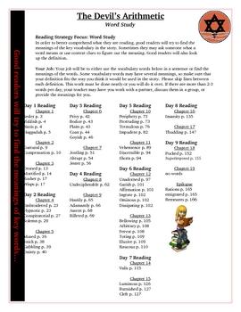 The Devil's Arithmetic Reading Vocabulary Activity Word Study KEY